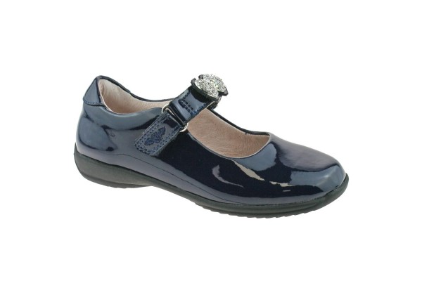LELLI KELLY LK 8304 MANDY INTERCHANGEABLE STRAP SHOES NAVY PATENT F FIT