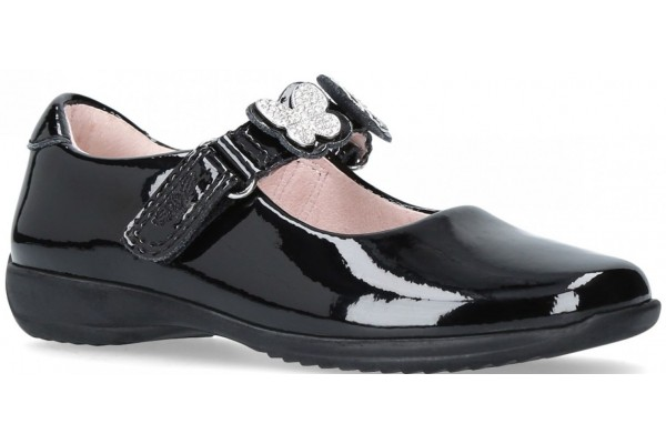 LELLI KELLY LK 8309 INTERCHANGEABLE STRAP SHOES BLACK PATENT