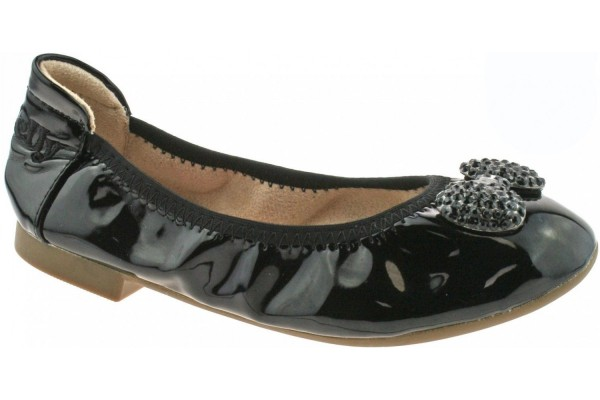 LELLI KELLY LK 8390 BLACK PATENT MAGIC SCHOOL BALLERINA SHOES