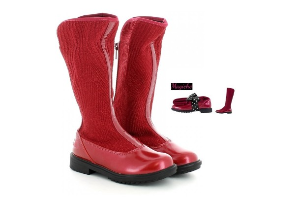 LELLI KELLY LK 3656 MAGIC RED BOOTS MAGICHE WITH GIFT