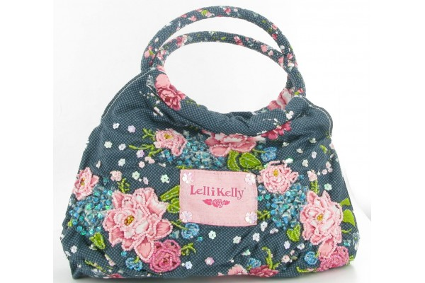 LELLI KELLY ROSE HAND BAG BLUE