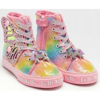 Lelli Kelly LK 1331 Unicorn Wings Multi Sequin Ankle Boot Limited Edition