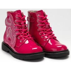 Lelli Kelly LK 4540 Fairy Wings Fuxia Patent Ankle Boot Limited Edition