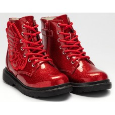 Lelli Kelly LK 4544 Fairy Wings Red Glitter Ankle Boot Limited Edition