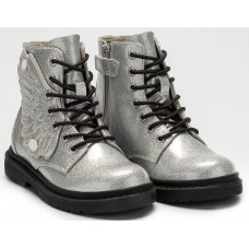 Lelli Kelly LK 4544 Fairy Wings Silver Glitter Ankle Boot Limited Edition