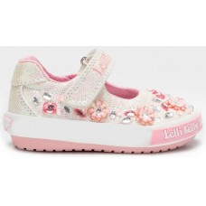 LELLI KELLY LK 7012 FLORENCE WHITE GLITTER BABY DOLLY SHOES