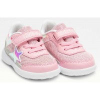 Lelli Kelly LK 7802 Celestia Toddler Baby Trainers Rosa Silver