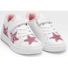 Lelli Kelly LK 7828 Glimmer White Rosa Girls Glitter Star Trainers