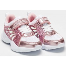 Lelli Kelly LK 7892 Callie White Rosa Girls Glitter Trainers