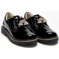 Lelli Kelly LK 8390 Leah Patent Leather Lace Up School Shoes
