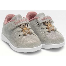 Lelli Kelly LK 4800 Sarah Toddler Baby Trainers Silver Glitter