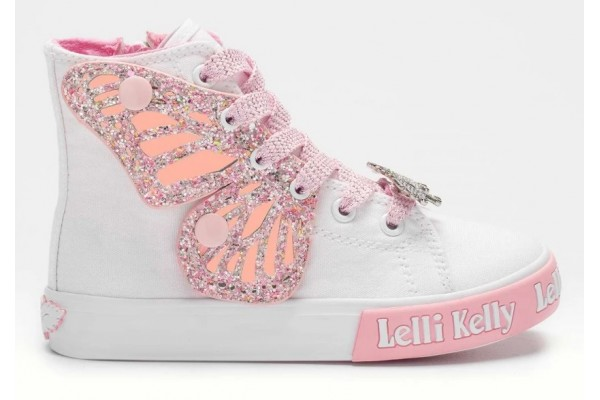 Lelli Kelly LK 1330 Unicorn Wings White Rosa Ankle Boot Limited Edition