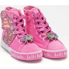 Lelli Kelly LK 1330 Unicorn Wings Fuxia Ankle Boot Limited Edition