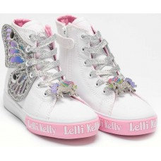 Lelli Kelly LK 1330 Unicorn Wings White Silver Ankle Boot Limited Edition