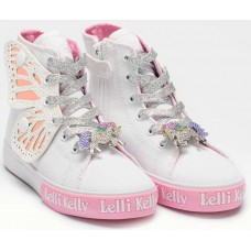 Lelli Kelly LK 1330 Unicorn Wings White Ankle Boot Limited Edition
