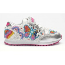 LELLI KELLY LK 4810 SNEAKERISSIMA TRAINERS SILVER SPECIAL EDITION