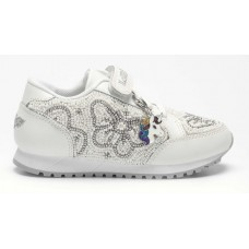 LELLI KELLY LK 4810 SNEAKERISSIMA TRAINERS WHITE SILVER SPECIAL EDITION