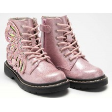 Lelli Kelly LK 5544 Fairy Wings Pink Glitter Ankle Boot Limited Edition