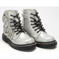 Lelli Kelly LK 5544 Fairy Wings Silver Glitter Ankle Boot Limited Edition