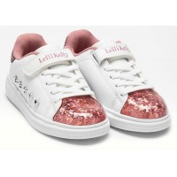Lelli Kelly LK 5821 Helene White Pink Floating Sparkle Trainers