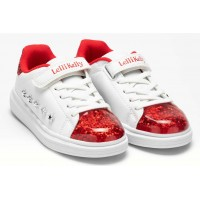 Lelli Kelly LK 5821 Helene White Rosso Floating Sparkle Trainers