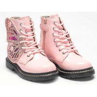 Lelli Kelly LK 6540 Fairy Wings Rosa Pink Patent Ankle Boot Limited Edition