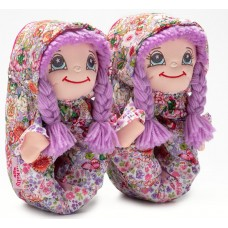 Lelli Kelly LK 8002 Doll Slippers Lilac With Gift