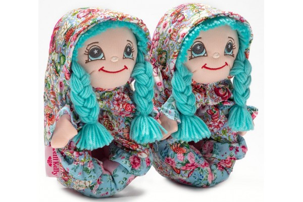 Lelli Kelly LK 8002 Doll Slippers Turq With Gift