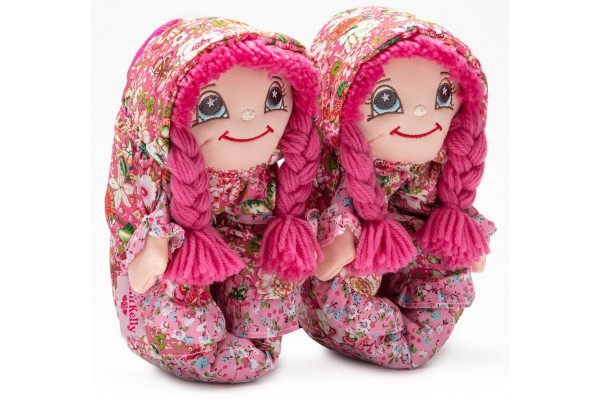 Lelli Kelly LK 8002 Doll Slippers Fuxia With Gift