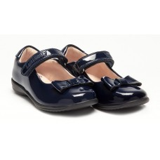 LELLI KELLY LK 8206 PERRIE SCHOOL DOLLY SHOES NAVY PATENT F FIT