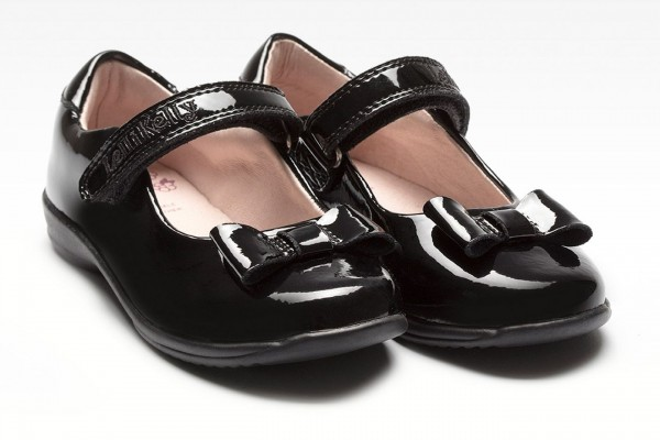 LELLI KELLY LK 8206 PERRIE SCHOOL DOLLY SHOES BLACK PATENT