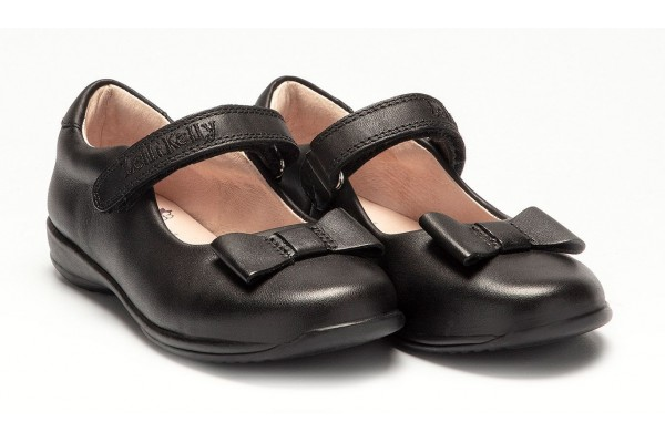 LELLI KELLY LK 8206 PERRIE SCHOOL DOLLY SHOES BLACK LEATHER F FIT