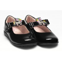 LELLI KELLY LK 8341 BONNIE UNICORN INTERCHANGEABLE STRAP SHOES G FIT BLACK PATENT
