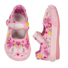 Lelli Kelly LK 1002 Swan Canvas Baby Dolly Shoes Pink