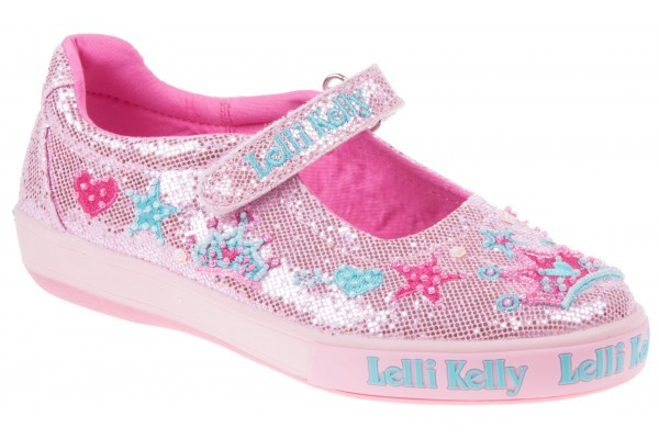 Lelli Kelly LK 1078 Pink Glitter Tiara Dolly Shoes