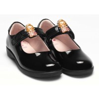 LELLI KELLY LK 8345 PRINNY INTERCHANGEABLE PRINCESS SCHOOL SHOES G FIT BLACK PATENT