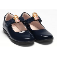 LELLI KELLY LK 8315 PRINNY INTERCHANGEABLE PRINCESS SCHOOL SHOES F FIT NAVY PATENT