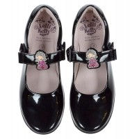 LELLI KELLY LK 8315 PRINNY INTERCHANGEABLE PRINCESS SCHOOL SHOES F FIT BLACK PATENT